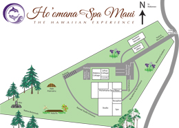 Ho'omana Spa Maui Property Map
